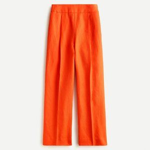 JCrew High-Rise Pleated Pant in Linen Blend size 4